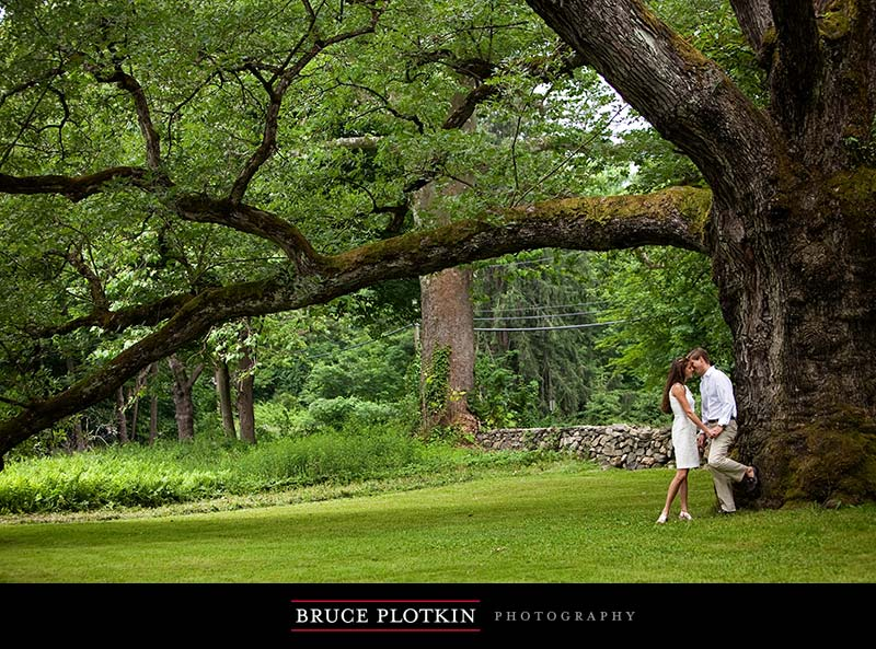 Paige and Garrett's Engagement Session: Bedford, New York