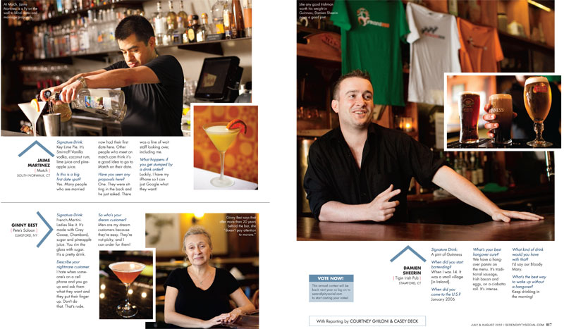 The Best Bartenders: Serendipity Magazine's Summer Issue