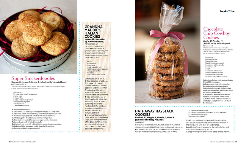 Kids, Cookies and the Holidays: Our Latest Serendipity Magazine Assignment