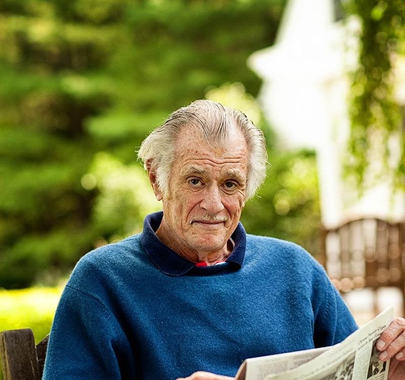 Westport Magazine Photography Session with Legendary Sportswriter Frank Deford