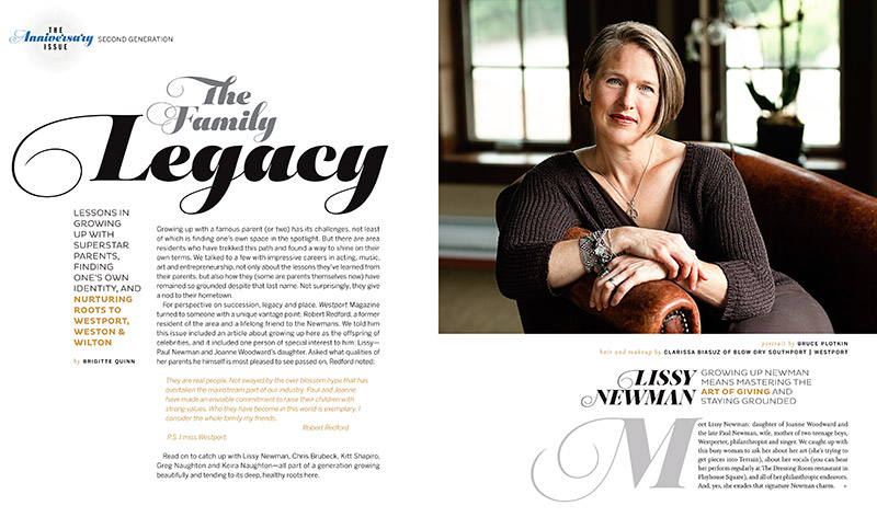 Lissy Newman for Westport Magazine's Anniversary Issue