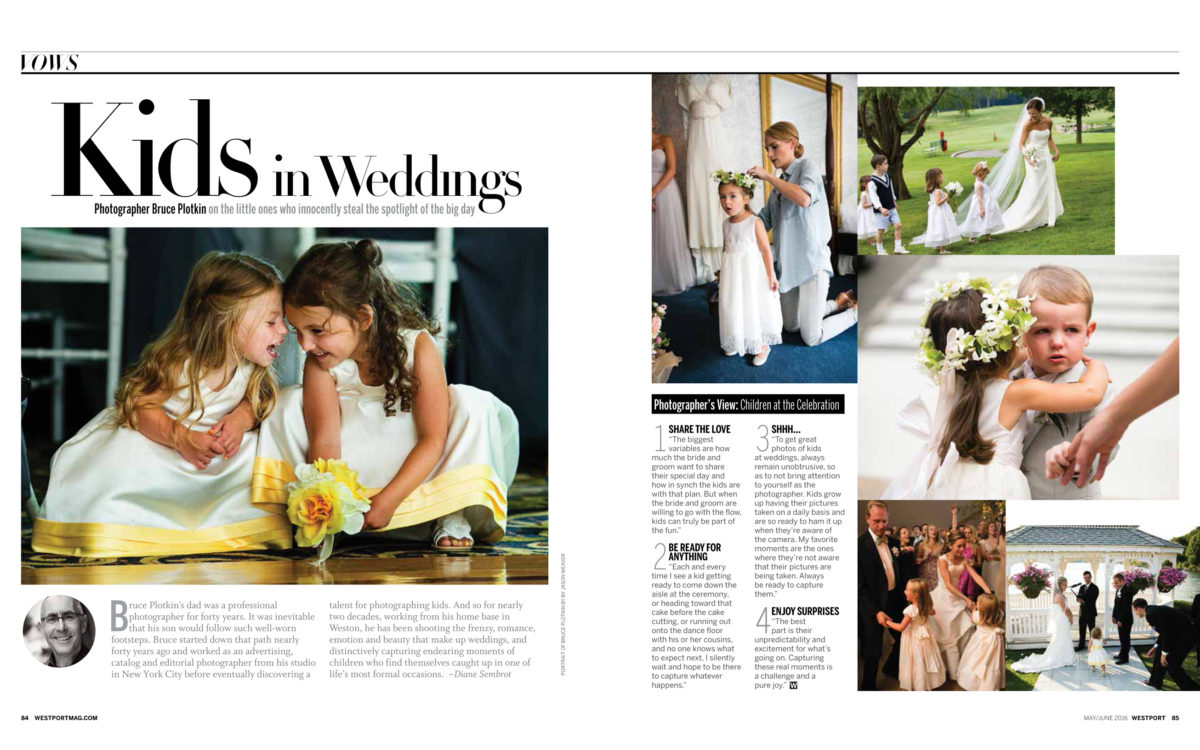 Kids in Weddings | Westport Magazine and Fairfield Living Editorial Spread